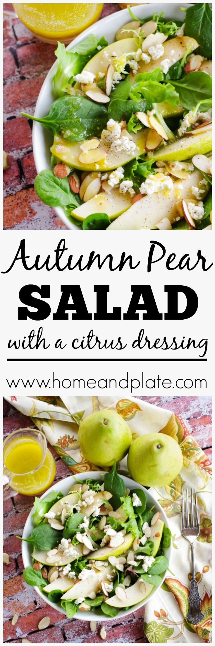 Autumn Pear Salad with Citrus Dressing | www.homea…