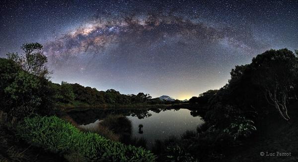 Milky Way Over Piton de lEau on Reuion Island