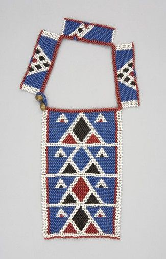 Necklace Local Name: ulimi Place Made: Africa: Southern Africa, South Africa People: Zulu Period: Late 19th to early 20th century Date: 1870 - 1929 Dimensions: L 21.75 cm x W 15.5 cm