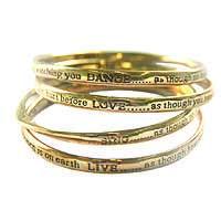 Gold Bangles, Live Love Dance Sing - Costume Jewellery