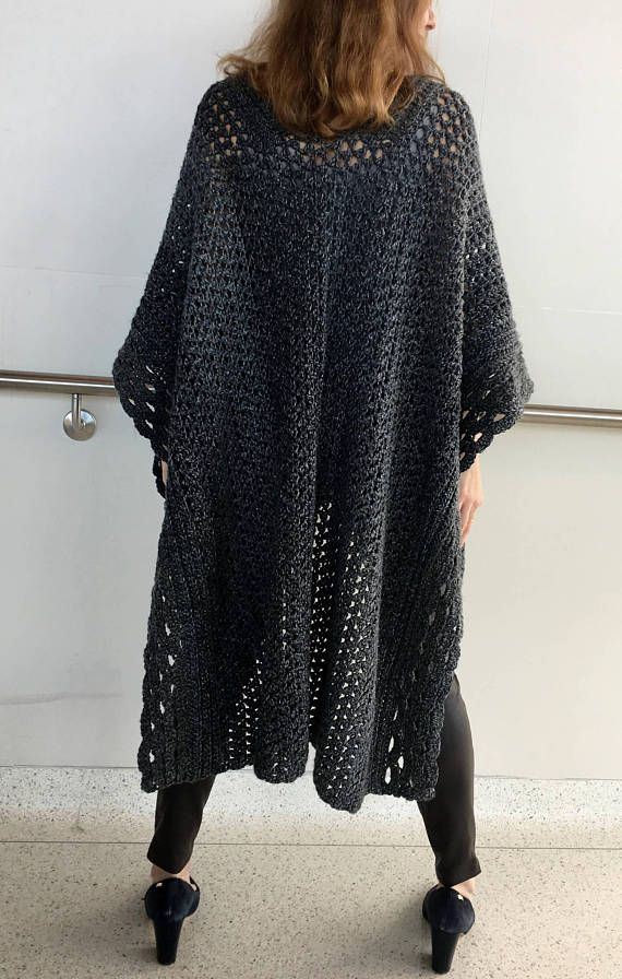 Crochet Poncho Pattern Crochet Cape Pattern Crochet Ruana Pattern
