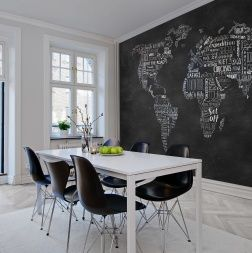 <p>Are you looking for inspiration and courage for a coming journey? Then you won't have to spend much time in front of this wall mural before your inner nomad awakens. Beautiful, hand-drawn typography against a blackboard. Hit the road!</p>