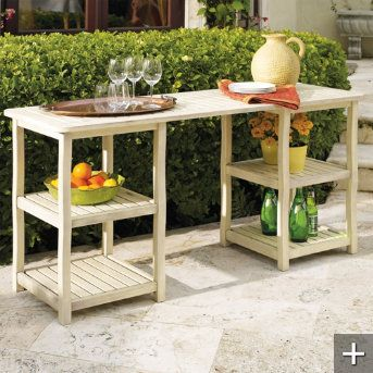 outdoor buffet table-Need my husband to make!!