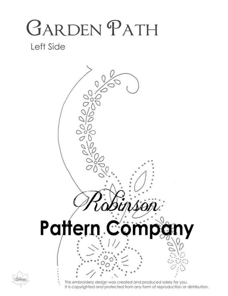 Garden Path Hand Embroidery pattern
