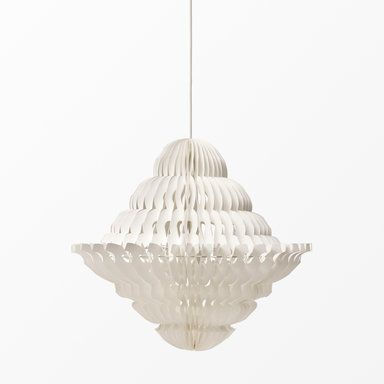 Taklampskärm i papper, Ø54 cm, offwhite