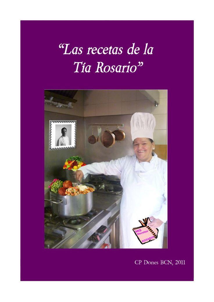 Las Recetas de la Tía Rosario  librio de cocina