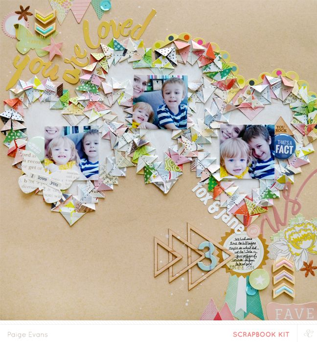 #Papercraft #scrapbook #layout.  YOU ARE LOVED by Paige Evans | made with her Silhouette CAMEO