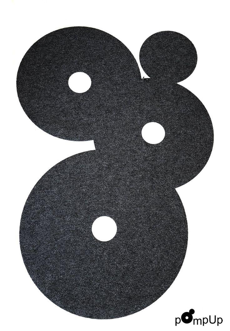 Matto pOmpUp Original L, suunnittelijat Maikku ja Hammi Mettinen - Carpet pOmpUp Original L, design Maikku and Hammi Mettinen