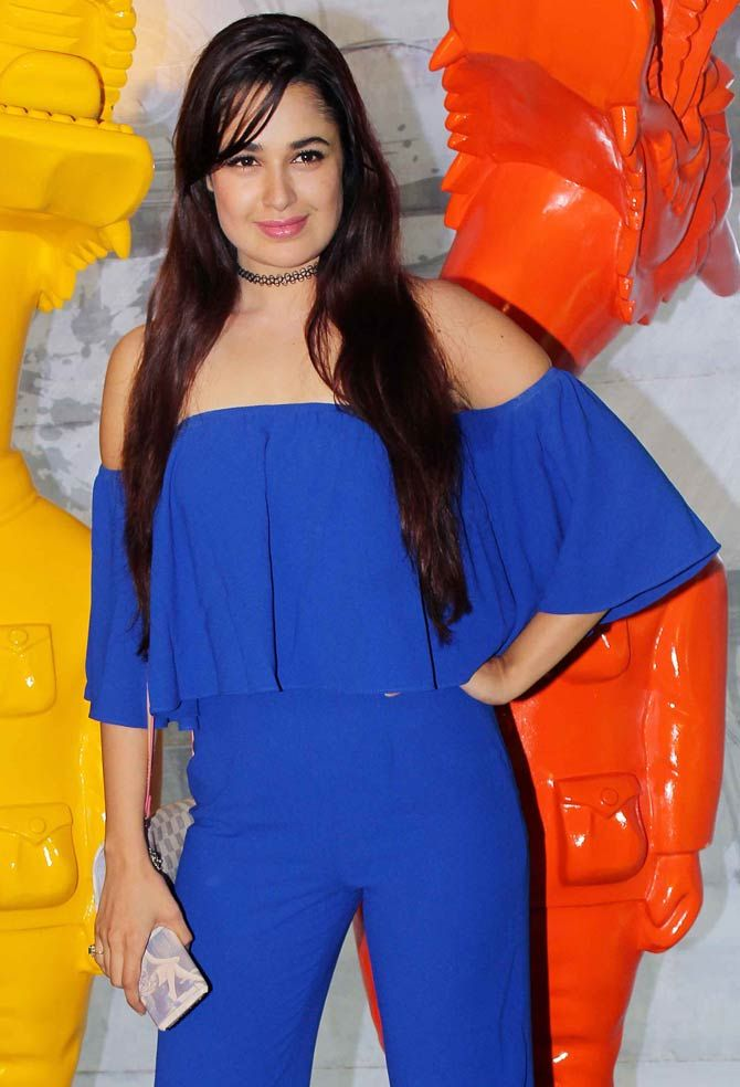 Yuvika Choudhary at Krishika Lulla's bash. #Bollywood #Fashion #Style #Beauty #Hot #Sexy