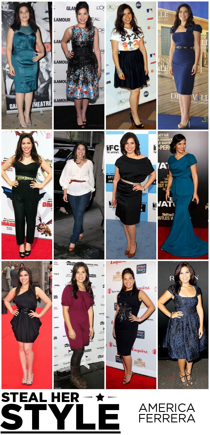 How to dress an apple shaped figure ehow - America Ferrera Steal Her Style Apple Shape