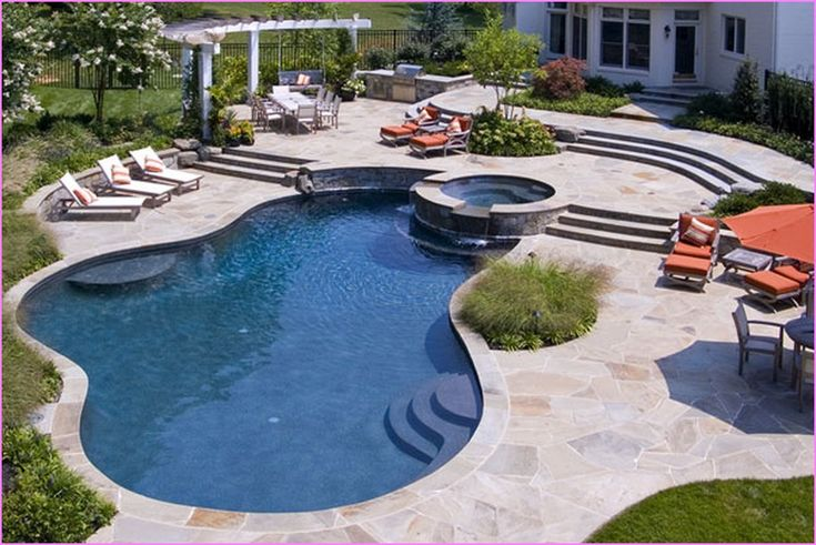 20 best pool ideas images on pinterest pool ideas small for Pool designs for large backyards