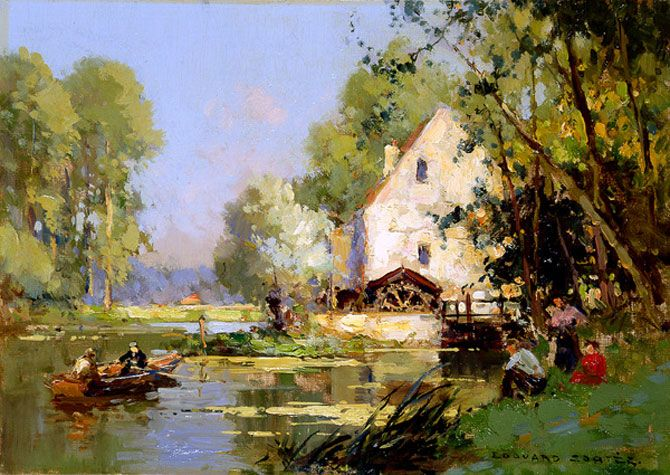 Bright Impressionistic Paintings by Edouard Leon Cortes-AmO Images-AmO Images
