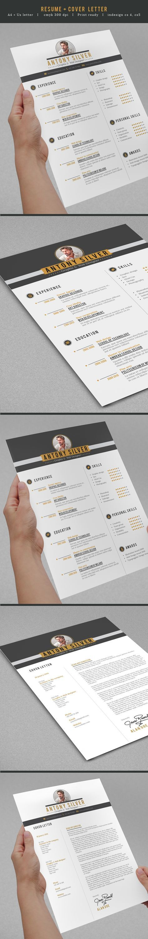 Clean cut resume with some style to