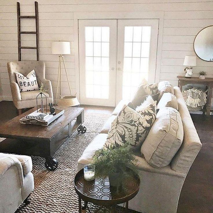 80+ Creative Farmhouse Living Room Decor Ideas - Page 41 of 78