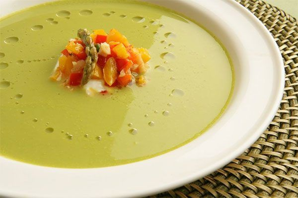"I love this soup principally because of its simplicity -- both in preparation and display,"" says Nick Stellino, the public television chef/personality and h"