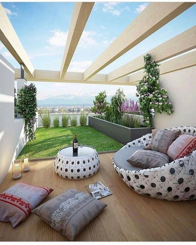 25 Desain Rooftop Garden Minimalis Sejuk Dan Cozy Abis Desain Eksterior Tanaman Dalam Rumah Rumah Hijau