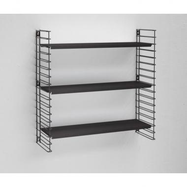 Tomado boekenrek retro - 3 etages - zwart | Xenos