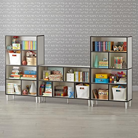 Fulton Street Tall White Bookcase | The Land of Nod