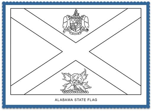 150 best usa state flags images on pinterest states for Alabama state flag coloring page