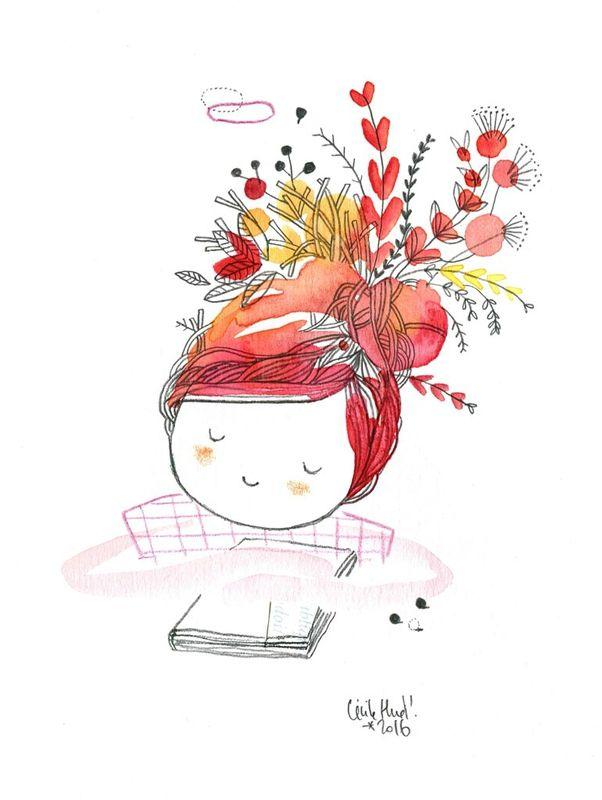rêveuse au livre, Cécile Hudrisier