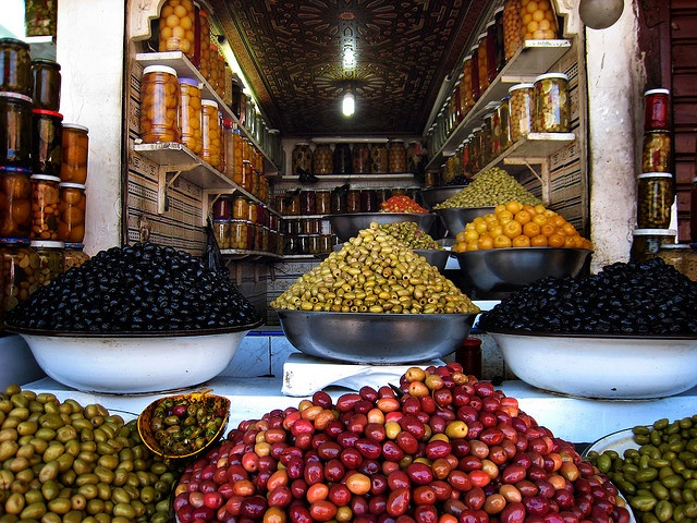 Olive Shop, Morocco... the most olives I've eaten in my life!