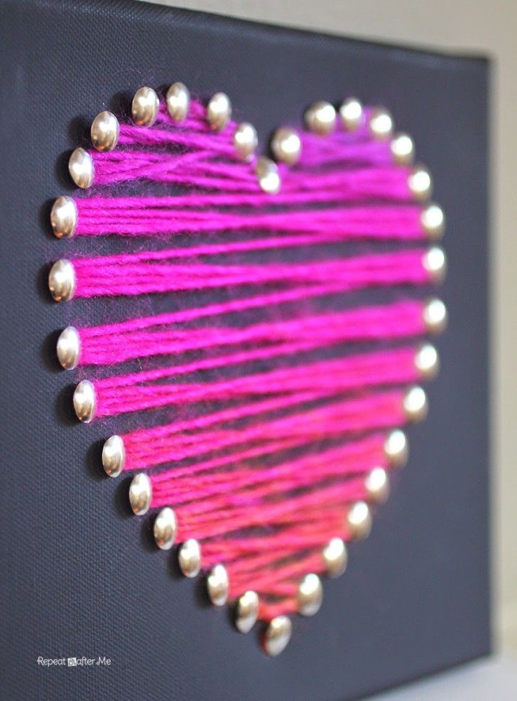 Yarn Heart Art - Repeat Crafter Me
