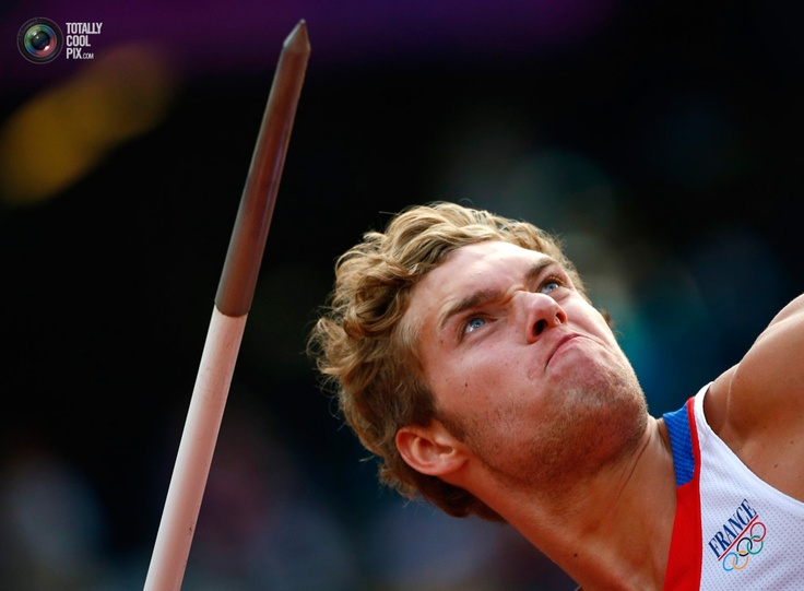 France's Kevin Mayer competes in the men's decathlon.
