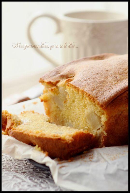 Cake fondant aux poires.