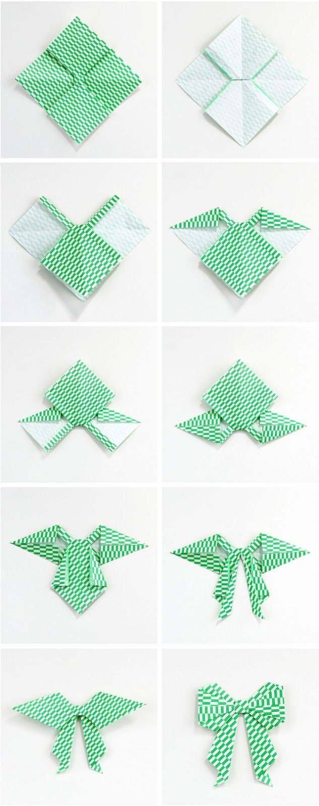 Gathering Beauty: DIY Origami Bow. Awesome and easy, and perfect if you need a flat paper bow for anything!