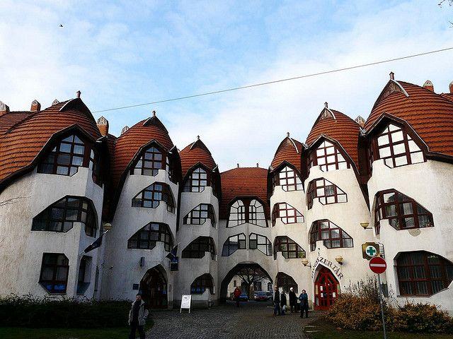 weird designed houses - Sárospatak Hungary