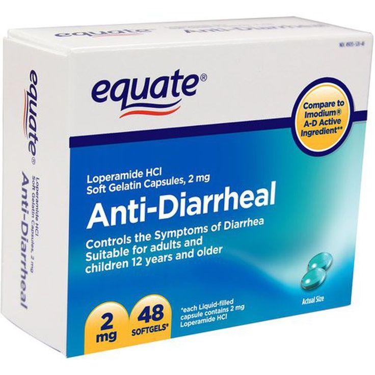 Equate - Anti-Diarrheal, Loperamide 2 mg, 48 Softgels (Compare to Imodium)   #Equate #AntiDiarrheal #Softgels #Simethicone#SoftgelImodium#OverTheCounterMedicine #HealthCare