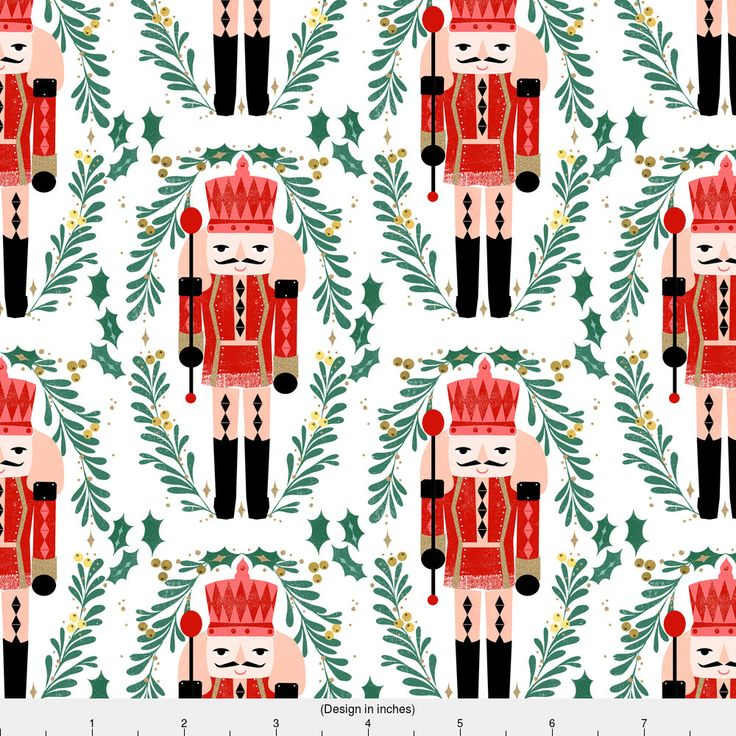 1 yard (or 1 fat quarter) of nutcracker // xmas holiday christmas fabric red and green nutcrackers fabric by andrea lauren by designer andrea_lauren. Printed on Organic Cotton Knit, Linen Cotton Canvas, Organic Cotton Sateen, Kona Cotton, Basic Cotton Ultra, Cotton Poplin, Minky, Fleece, or Satin fabric. Available in yards and quarter yards (fat quarter). This fabric is digitally printed on demand as orders are placed. Unlike conventional textile manufacturing, ...