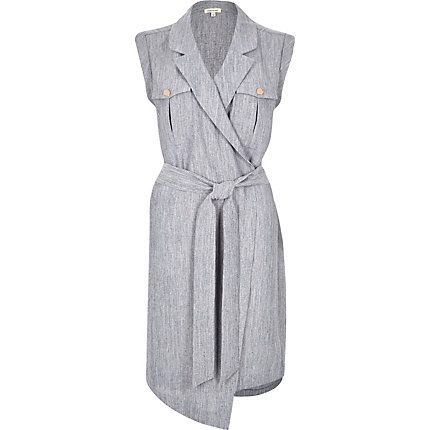 Light blue wrap shirt dress £55.00