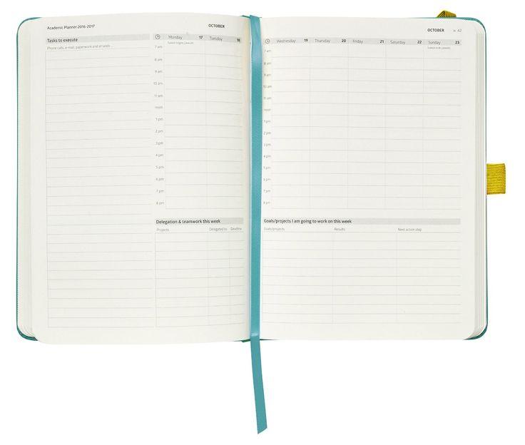 Action Day Planificateur académique 2016-2017 Calendrier: Quotidien Hebdomadaire mensuel annuel Organiseur & But de Journal - Conçu pour buts & Get Things Done (6 x 8/Reliure cousue/Turquoise): Amazon.fr: Fournitures de bureau