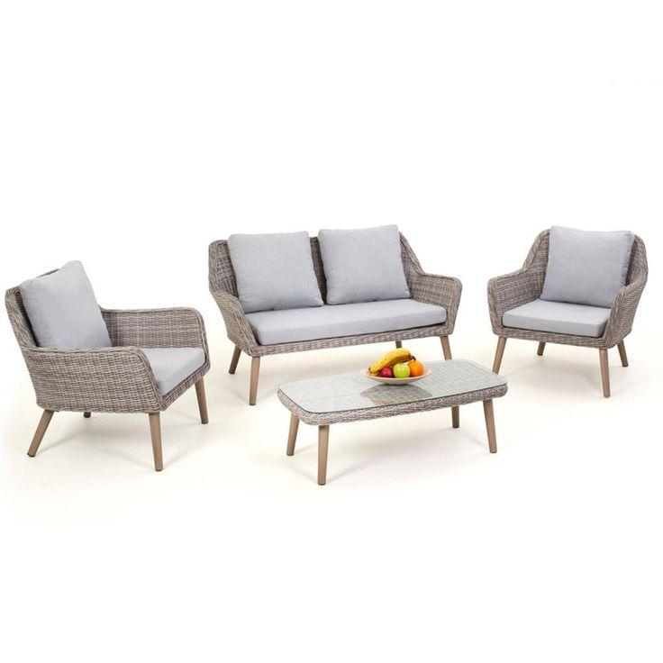 Maze Rattan Paris 2 Seat Garden Sofa Set | Internet Gardener