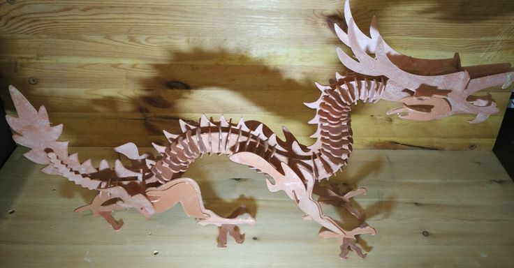 3d puzzle printed 3d dragon puzzle ABS ,2016 #Unbranded