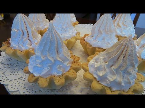 Корзиночки с кремом (меренгами) - YouTube