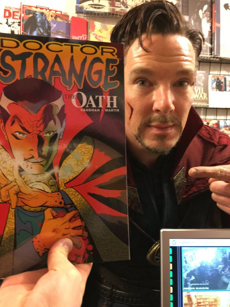 ENTERTAINMENT WEEKLY (April 3, 2016) ~ While filming in New York City, Benedict Cumberbatch goes to a comic book store while in his DOCTOR STRANGE costume. [Click for article and photos]
