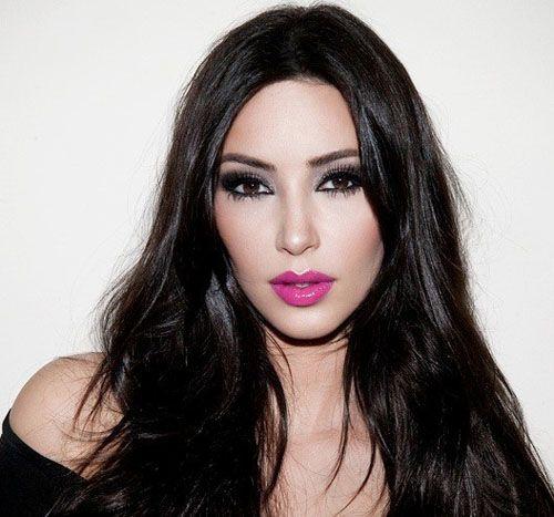 Kim Kardashian rossetto fucsia