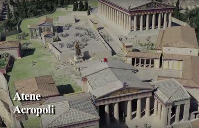 Recreación en 3D de la Acrópolis de Atenas | La cámara del arte