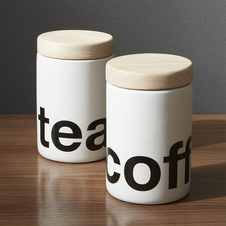 White Coffee Canister | Crate and Barrel