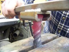 Railroad spike twister - I have to make one of these!!