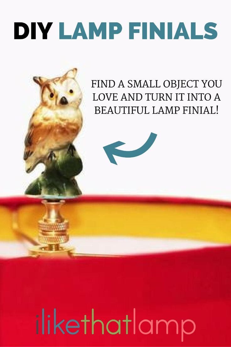 The 201 best diy lamp finial ideas images on pinterest lamp shades diy owl lamp finial read about diy lampshade kits and projects at http mozeypictures Image collections