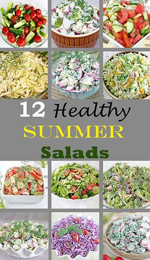 It is the perfect way to enjoy the assortments of all the produce that's in season, and add a splash of brightness to your table. #healthysummersalads #summervegetables #salads