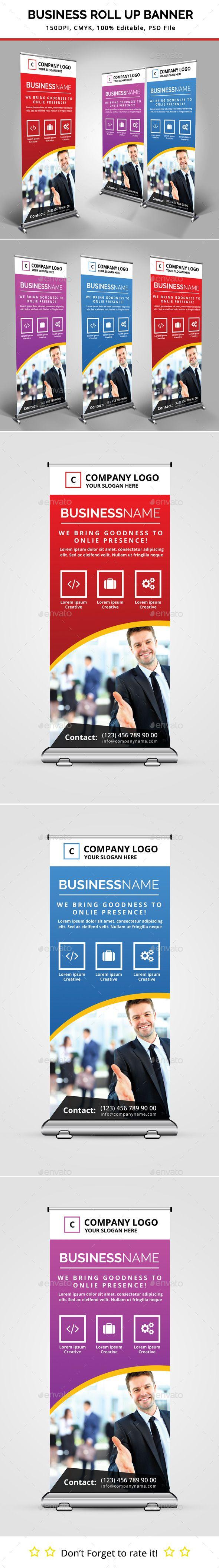 Business Roll Up Banner Template #design Download: http://graphicriver.net/item/business-roll-up-banner/11330772?ref=ksioks