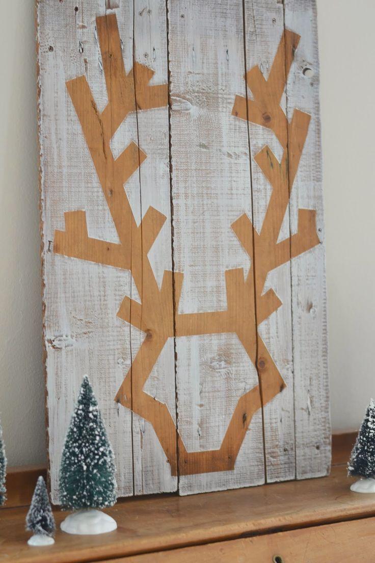 Shabby Love: Deer Head Wall Art - sweet!