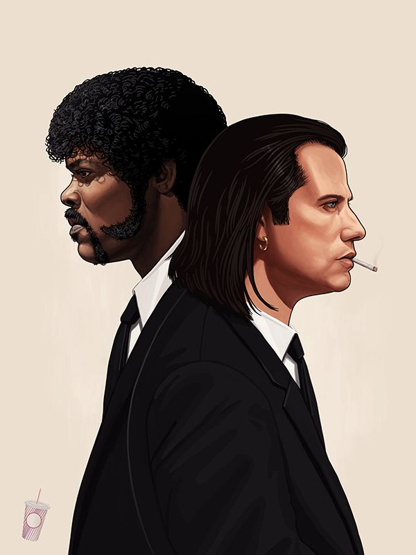 Jules and Vincent by Mike Mitchell | Pulp Fiction | Fan Art | Movies