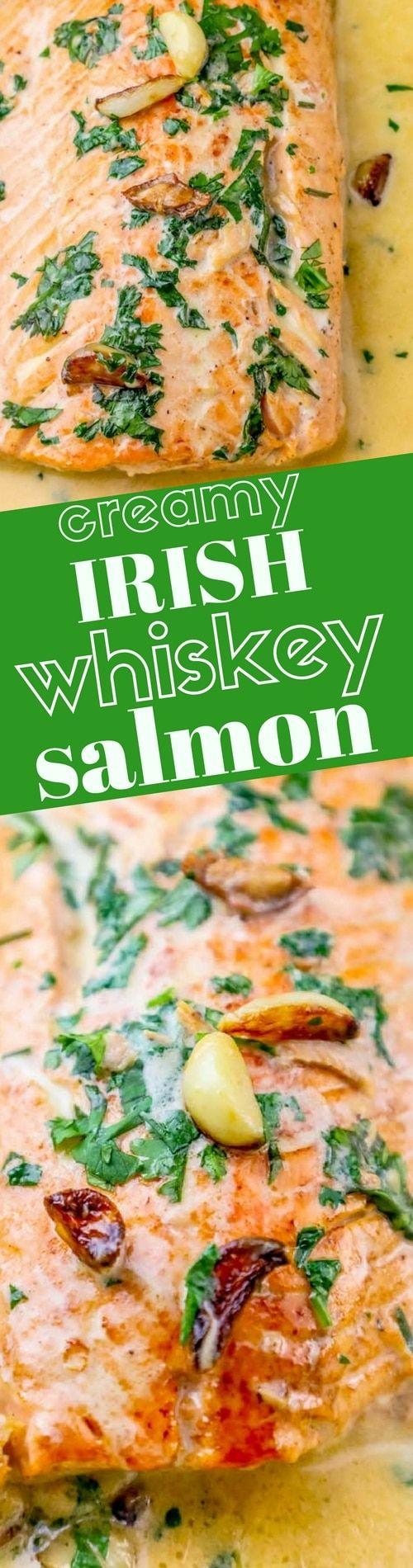 One Pot Irish Whiskey Glazed Salmon Recipe ⋆ Sweet C's Designs