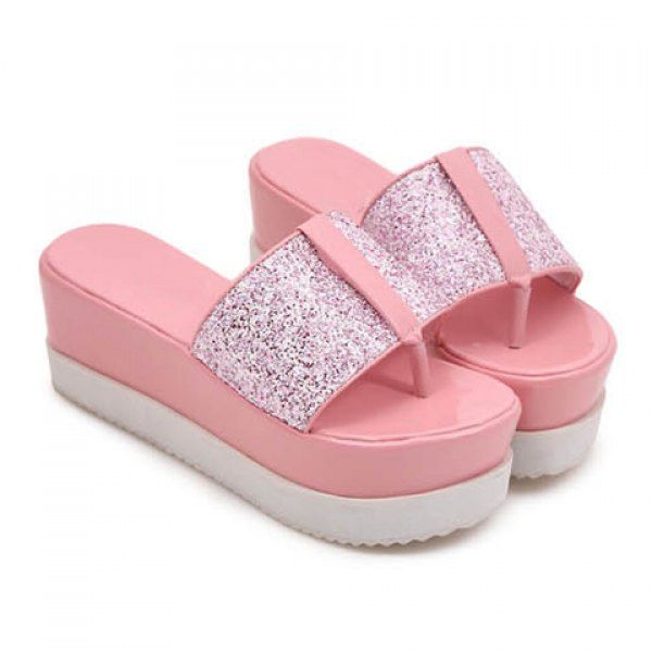 Wholesale Stylish Sequined and Flip-Flop Design Women's Slippers Only $11.93 Drop Shipping   TrendsGal.com