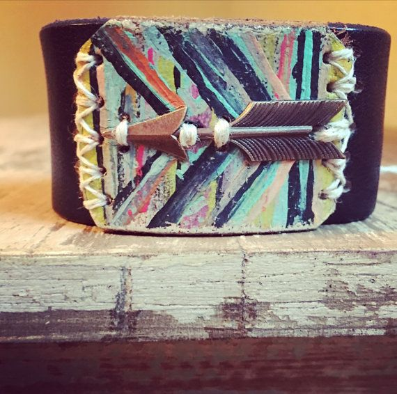 The Free Spirit Collection ARROW leather cuff by thecuffchic